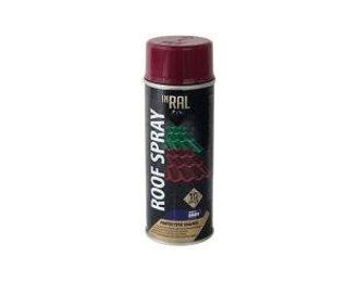 Dažai INRAL ROOF Spray stogo dangai 400ml RAL3005