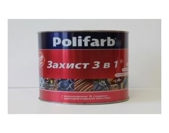 Dažai POLIFARB 3in1 smooth RAL6005, 0,9 kg.