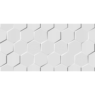 Sieninė pl. VIRGIN WHITE HEXAGONE 30x60