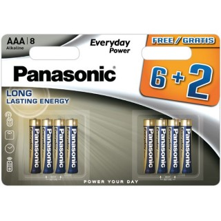Baterija Panasonic Everyday LR AAA MD1319 6+2  1 pokas